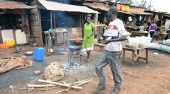 Street scene, Jinja, Uganda Stock Footage