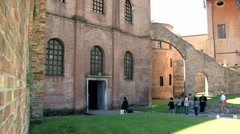 Exterior of the basilica of San Vitale in Ravenna, Italy. Stock Footage