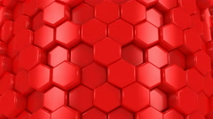 Abstract Background of Red Honeycombs - stock footage