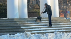 Cleaning steps of the Cathedral of snow. Stock Footage