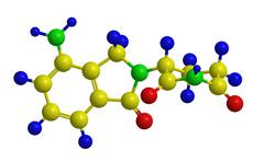 Molecular structure of Lenalidomide (Revlimid) -  treatment of multiple myelo Stock Illustration
