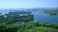 View of Tsukumo-jima from Tenkaiho, Nagasaki Prefecture, Japan Stock Footage