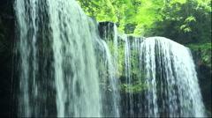 Nabegataki waterfall, Kumamoto Prefecture, Japan Stock Footage