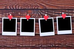 Blank instant photo - stock photo