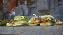 Incense and Offerings on an Altar at a Hindu Temple. Video 4k Stock Footage