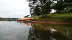 Boat trip on the Nile river in the Jinja, Uganda. Stock Footage