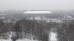 Stadium Luzniki at Moscow Stock Footage