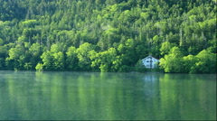Green colors at Lake Shikaribetsu in Hokkaido Stock Footage