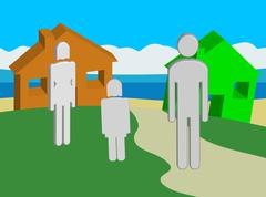 Ideal Home Location - stock illustration