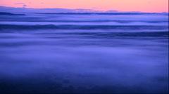Morning mist over Kushiro Marsh from Kushiro Satellite Observatory in Hokkaido Stock Footage