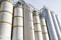 Industrial silos in the chemical industry Kuvituskuvat