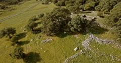 4K Aerial, Flight along a mountain range, Sierra De Grazalema, Andalusia Stock Footage