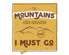Outdoor inspiration lettering. Motivation mountain brochure, background quote - stock illustration