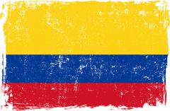 Stock Illustration of Colombia Vector Flag on White