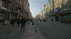 People walking on Maršala Tita street in Sarajevo Stock Footage