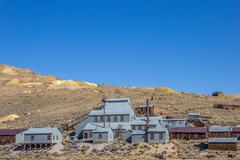 Old factory in Bodie State Historic Park Stock Photos