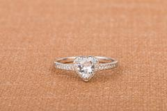 Ring with gems. Stock Photos