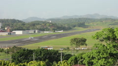 Commercial Plane taking off from Aeropuerto Internacional Marcos A Gelabert. Stock Footage