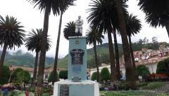 Sorata - Bolivia - Principal Plaza Catedral HD (Tilt Up) - stock footage