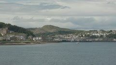 Port of Rothsay from the ferry. Stock Footage