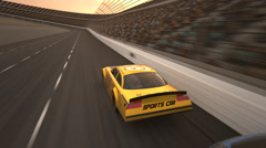Sports Cars Racing Stock Footage