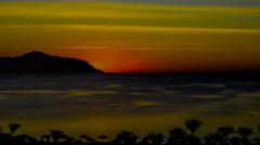 Sunrise. Red Sea. Sinai peninsula. 4K Stock Footage