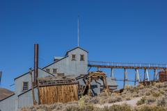 Abandoned factory in Bodie State Park Stock Photos