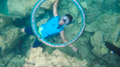 Air ring,scuba diving - stock footage
