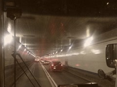 Vintage Style Traffic Inside New York Tunnel 8mm Stock Video Stock Footage