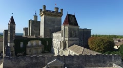 South French city duche d'Uzes with drone 4 Stock Footage