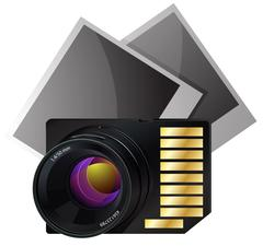 Memory card for photo vector illustration - stock illustration