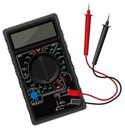 Digital black multimeter vector illustration - stock illustration