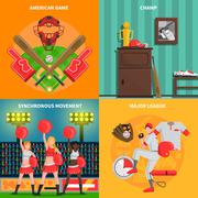 Baseball concept set Stock Illustration