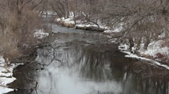 Winter trout stream - stock footage