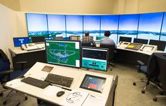 Air traffic monitor and radar in the controll center room of Bulgarian Air Tr - stock photo