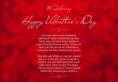 Abstract Red Blurred Valentines Day Background. Stock Illustration