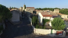 Village in south of France with drone 1.mp4 Stock Footage