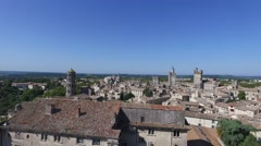 Uzes south french city with drone 5.mp4 - stock footage
