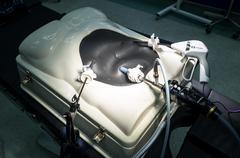 Surgery arthroscope, arthroscopy camera and probe in new and modern operating - stock photo