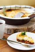 casserole with minced meat and mashed potatoes - stock photo