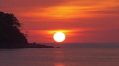 Gorgeous Nature Landscape Tropical Sunset Big Sun Stock Footage