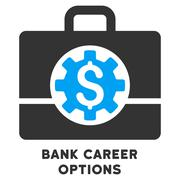 Bank Career Options Vector Icon With Caption - stock illustration