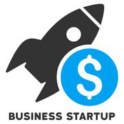 Business Startup Vector Icon With Caption Stock Illustration