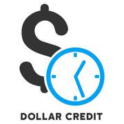 Dollar Credit Vector Icon With Caption Stock Illustration