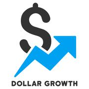 Dollar Growth Vector Icon With Caption Stock Illustration