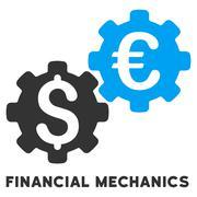 Financial Mechanics Vector Icon With Caption Stock Illustration