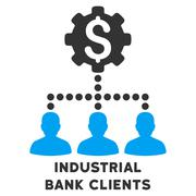 Industrial Bank Clients Vector Icon With Caption Stock Illustration