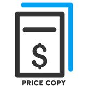 Price Copy Vector Icon With Caption Stock Illustration