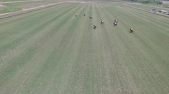 Drone Polo Match clip Stock Footage