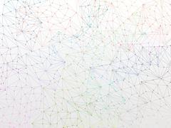 Molecule Backgound design wallpaper on white - stock illustration